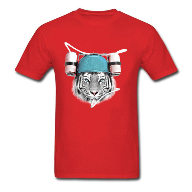 Cool White Tiger Birthday T Shirts For Adult Pure Cotton Valentine