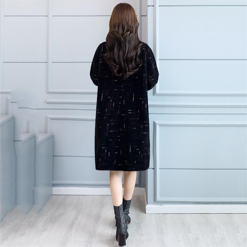 Col Cachemire Femme down Grande 2018 Manteaux noir Noir De Haute Turn Breasted Long Nouveaux Hiver Femmes Manteau Double Laine Taille Qualité Beige Uzq5vxH