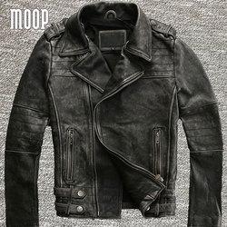Retro grey genuine leather jacket coat men off center zip placket cowskin motorcycle jackets veste cuir.jpg 250x250