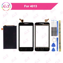 4,0 ''Für Alcatel One Touch OT4013 LCD Display + Touchscreen Digitizer Schwarz Mit Werkzeug Pixi 3 4013D 4013(China)