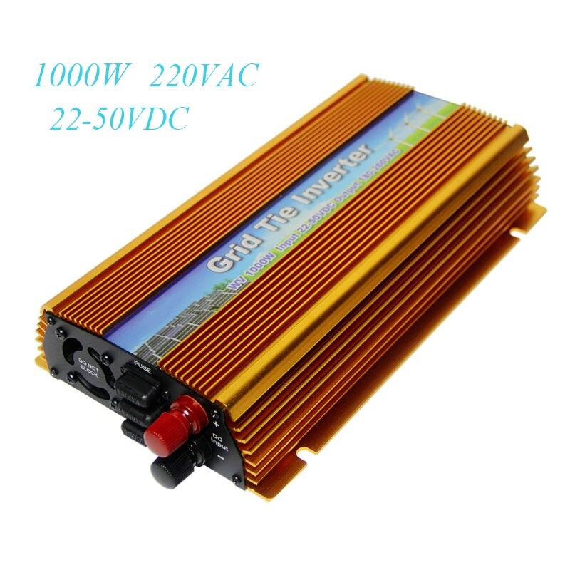 MAYLAR Solar On Grid Tie inverter 1000W DC 22 50V to AC 180 260V MPPT Pure Sine Wave Power Transformer Converter For PV System