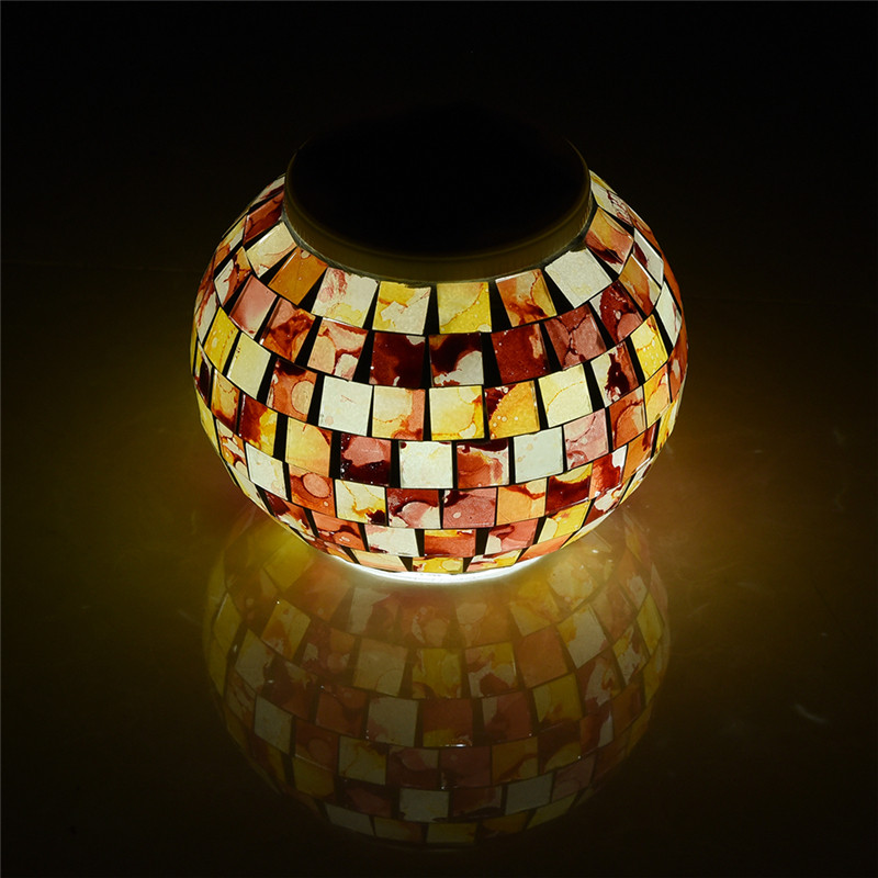 Mosaic glass ball garden lights color changing led solar light mosaic glass ball garden lights color changing led solar light waterproof solar powered table lamps for parties decorations xmas in led table lamps from aloadofball Gallery