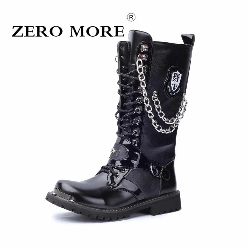 ZERO MORE Army Boots Men High Military
