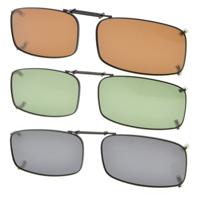ece608a03 C87 Eyekepper Grey/Brown/G15 Lens 3-pack Clip-on Polarized Sunglasses