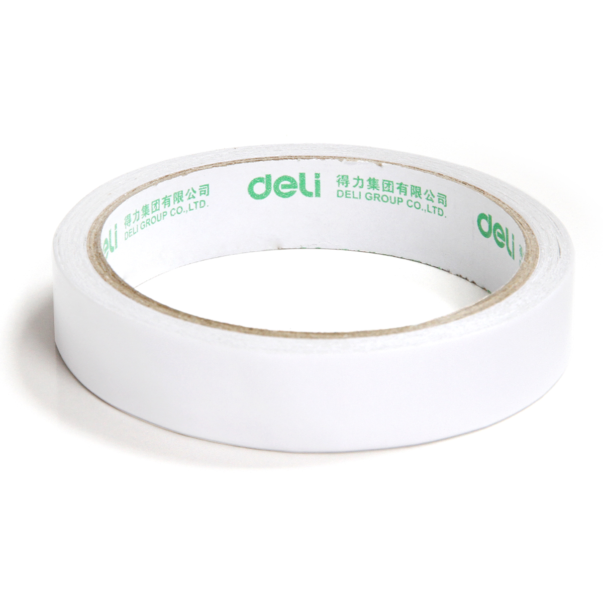 Deli 18mm x 10y / 18mm x 9.1m Double-Sided Tape White Strong Sticky Glue Tape Powerful Doubles Faced Adhesive For Office 1 pcs deli 2 4cm 10y super slim strong adhesion white double sided tape doubles faced adhesive for office supplies