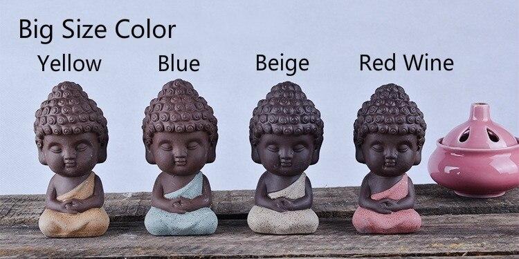 Küçük Buda heykeli keşiş heykelcik tathagata Hindistan Yoga - Ev Dekoru - Fotoğraf 4