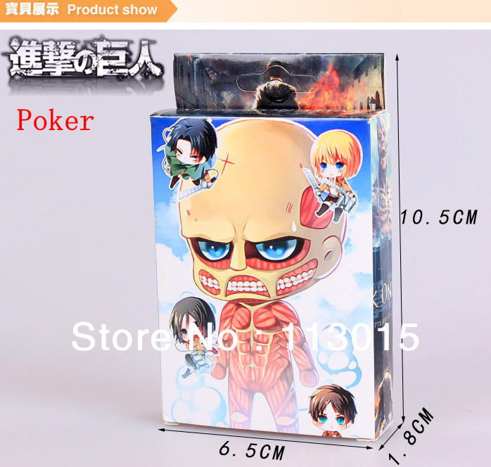 Attack On Titan Poker Anime Poster Pokers Big Size High Quality Printing