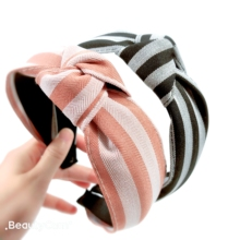 Colorful Striped Knot Headbands For Women  Korea High Quality Hair Accessories Hair Band Hair Bows Flower Crown Hairbands korea high quality top knot leopard print hair accessories hair band hair bows flower crown headbands for women girls hairbands