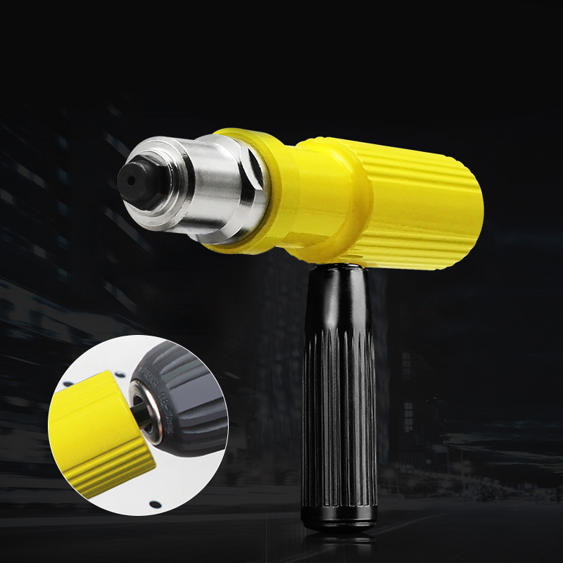 Electric Rivet Nut Gun Riveting Tool Cordless Riveting Drill Adaptor Insert Nut Tool Riveting Drill Adapter Core Pulling Core