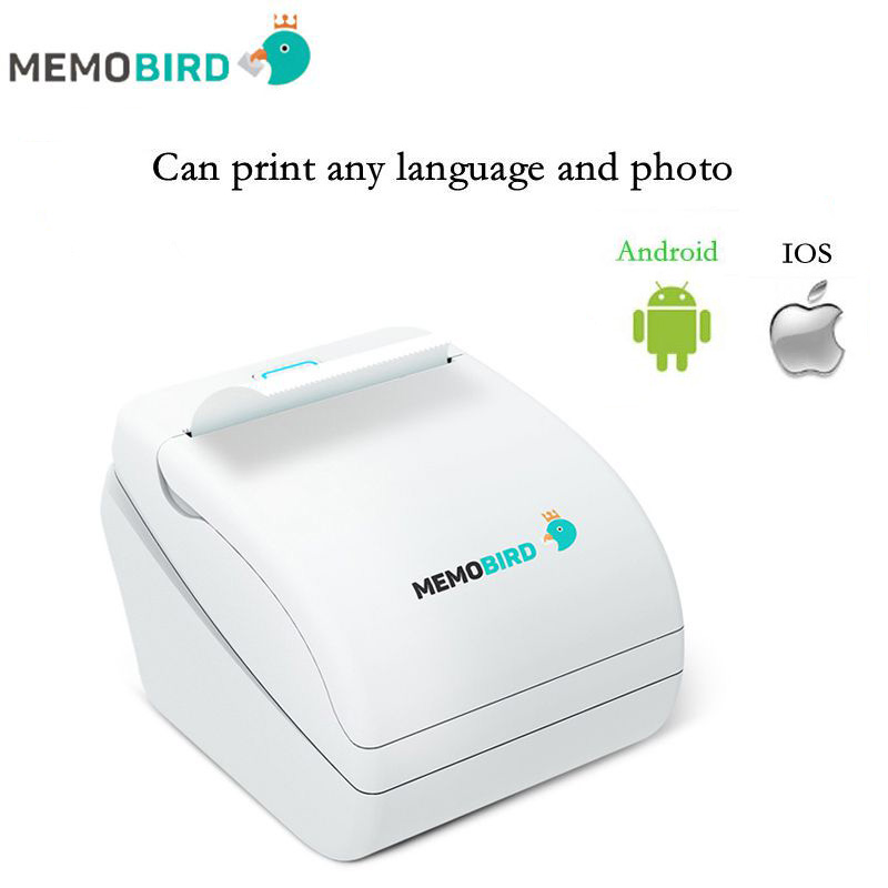 Memobird G1WiFi Thermal Receipt Printer barcode Printer Wireless Remote Phone Photo Printer any language and photo