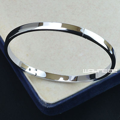 925 Hallmark Silver tone ladies engagement bangle bracelet 55mm Dia g134