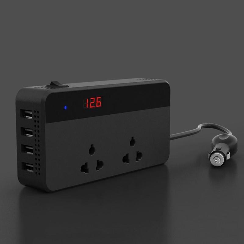 VODOOL 200 Вт 4 USB розетка зарядное устройство Автомобильный инвертор DC 12 В в AC 220 В бытовой автоматический преобразователь питания многофункциональная розетка зарядка