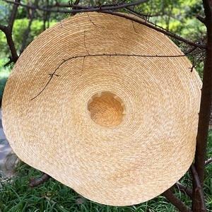 "Image 5 - 38 ซม./15 ""GIANT ขนาดใหญ่ฟางหมวกสำหรับหมวกผู้หญิงฤดูร้อนดวงอาทิตย์ Floppy งานแต่งงาน DERBY หมวกหมวกชายหาดวันหยุด Choice"