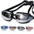 2017 Nova Marca Homens Mulheres Anti Nevoeiro óculos de Natação Óculos de Proteção UV Galvaniza Profissional À Prova D' Água Óculos de Natação Adulto Óculos