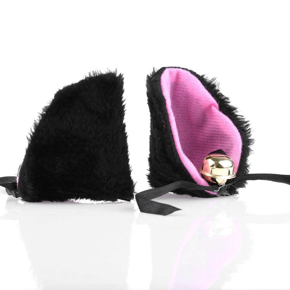 1/2Pc Hot Nieuwe Zoete Grappig 6 Kleuren Bel Kat Oren Haar Clip Cosplay Anime Kostuum Halloween Verjaardag partij Haar Accessoires