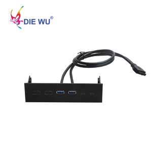 Image 3 - Computer accessories front panel 4 Ports USB 3.0 USB 2.0 USB 3.1 Type C hub Splitter Internal Combo Bracket Adapter