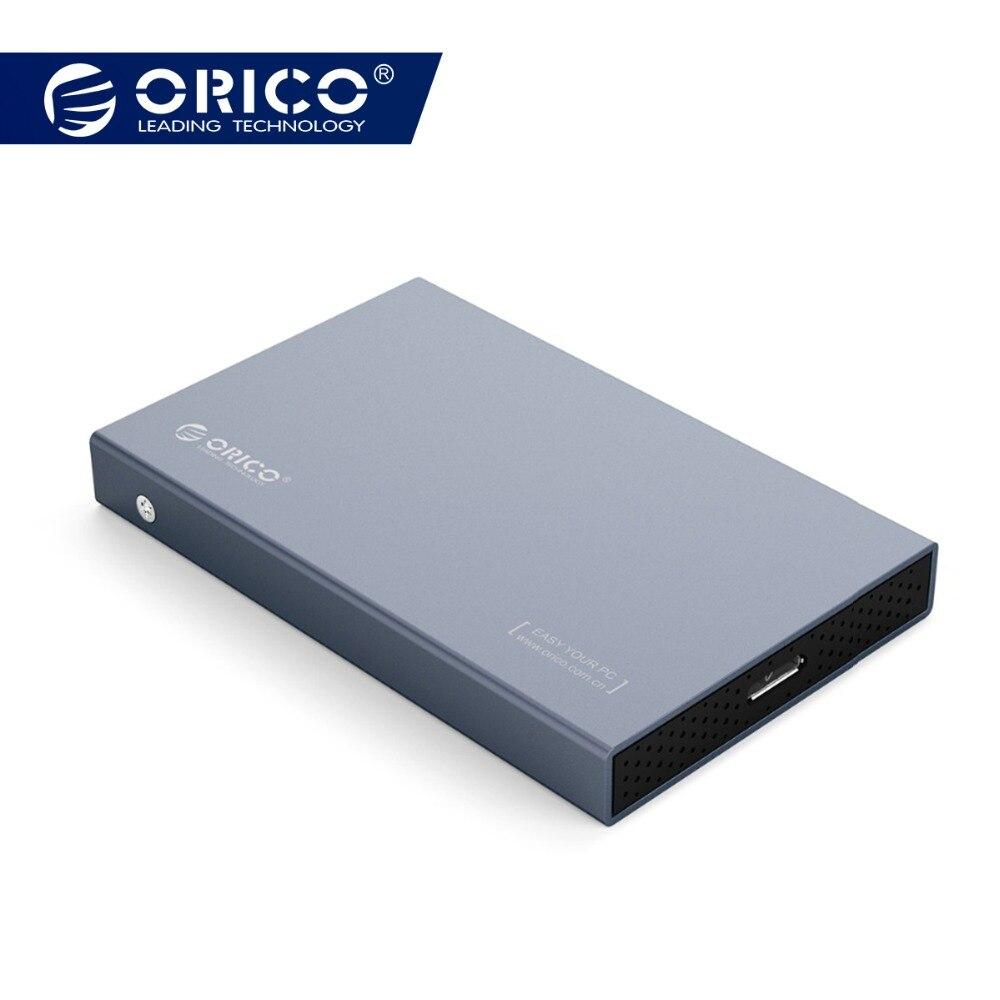ORICO caso HDD de 2,5 pulgadas SATA a USB tipo C USB 3,1 Gen 2 para Samsung Seagate SSD 4 TB disco Duro caja externa HDD