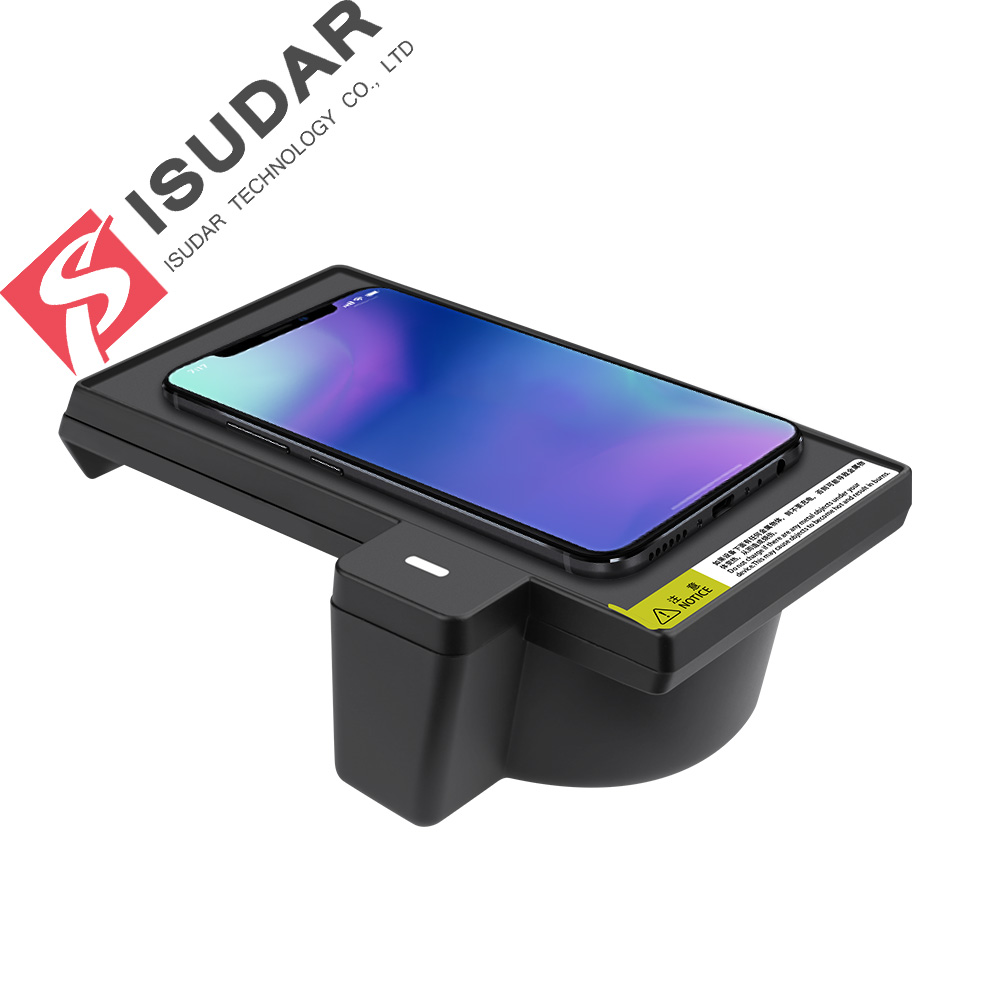 ISUDAR 10W Qi Car Wireless Charger Auto Fast Wireless Charging For BMW X5 2017/2018 for iphone 8X For Samsung For HuaweiISUDAR 10W Qi Car Wireless Charger Auto Fast Wireless Charging For BMW X5 2017/2018 for iphone 8X For Samsung For Huawei