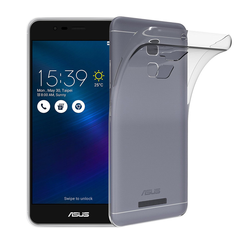 Qosea For Asus Zenfone 3 Max ZC5TL Phone Case Transparent Silicone Ultra-thin Soft TPU For Zenfone 3 ZC5TL Protective Cover 2