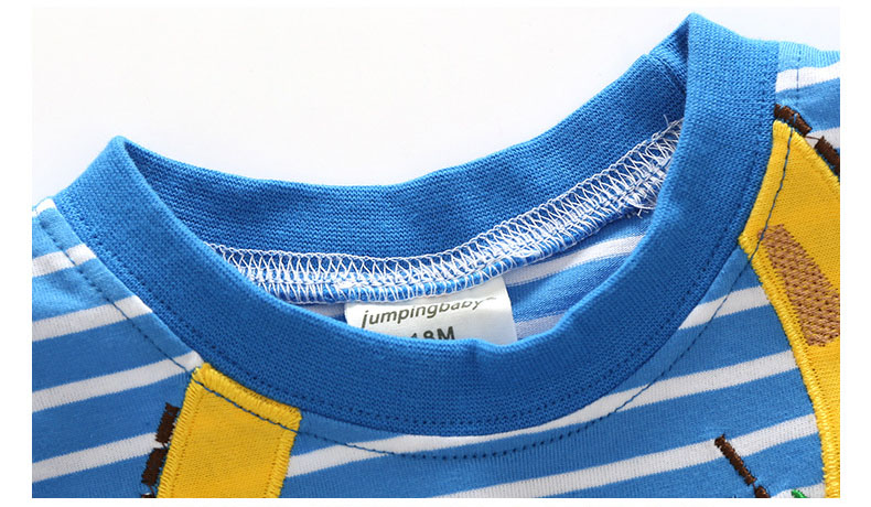 HTB1ORnVQFXXXXXVXVXXq6xXFXXXT - 2017 New Brand top quality kids clothing summer boys short sleeve O-neck t shirt Cotton embroidery cartoon striped tee tops