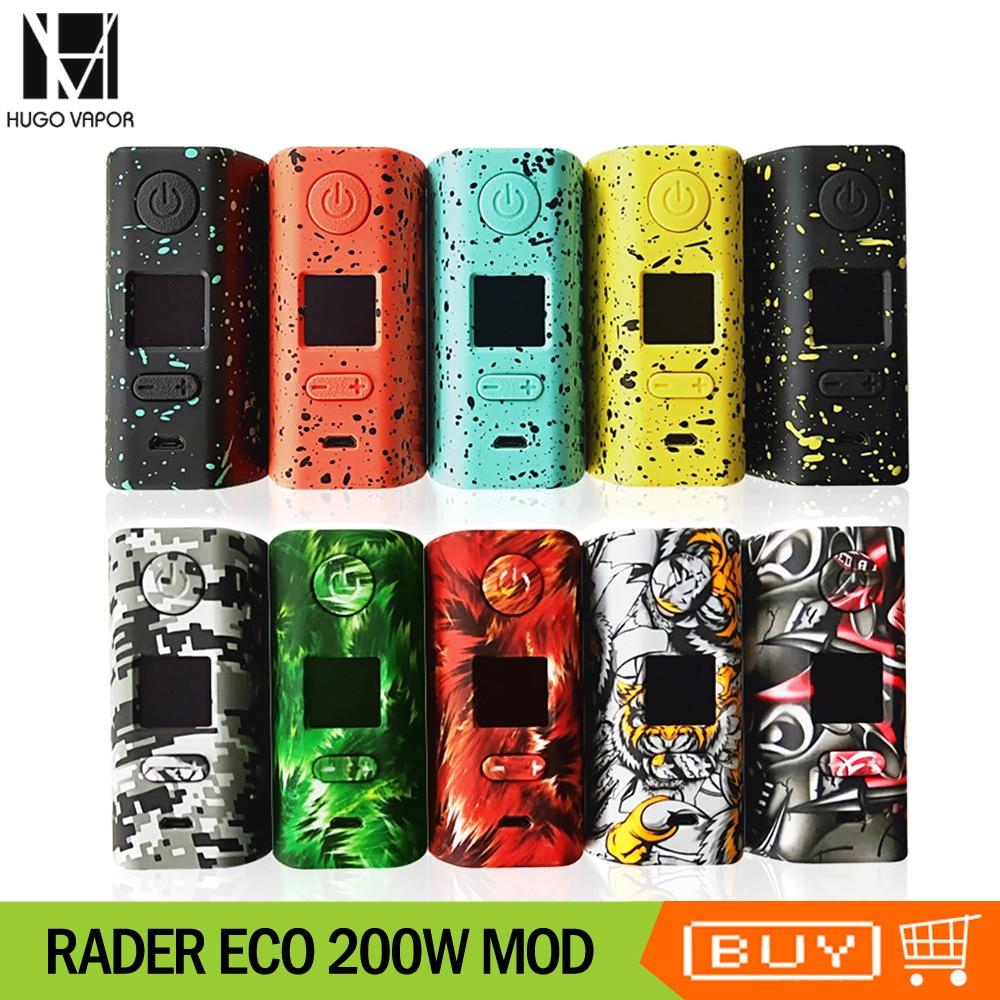 US $21 94 44% OFF|Original Hugo Vapor Rader ECO 200W Box MOD VV/VW/Bypass  Vape Mod By dual 18650 Battery Electronic Cigarette Mod VS Tesla WYE Mod-in