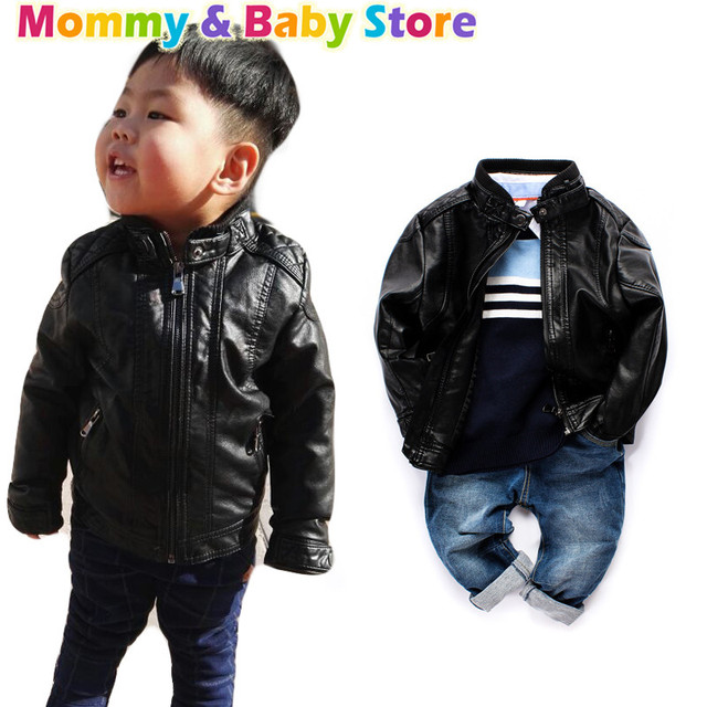 bd86094104cd Fashion kids boys leather jackets for 2 8 yeares baby boys jacket ...