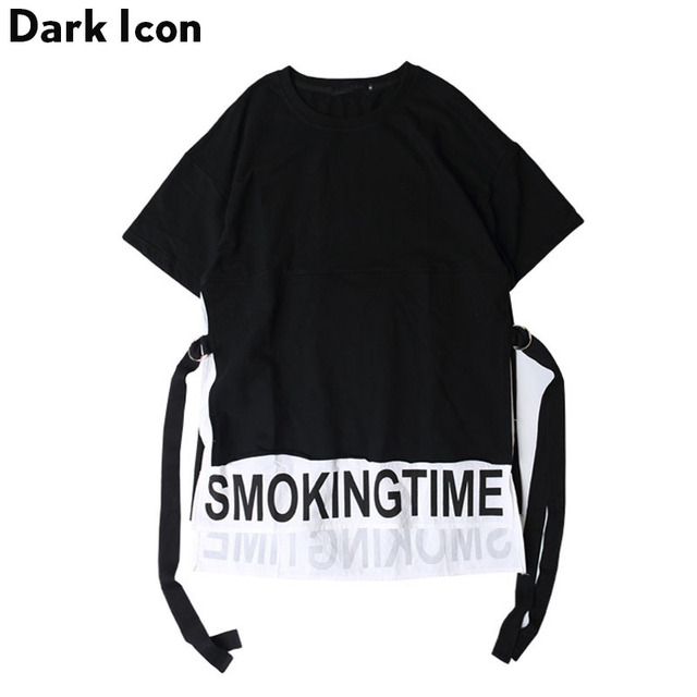 5e6eb05a2 Letter Printed Hip Hop T Shirt 2017 Summer Front Short Back Long Smoking  Time Mens T-shirts Casual Men Tee Shirt Top for Men