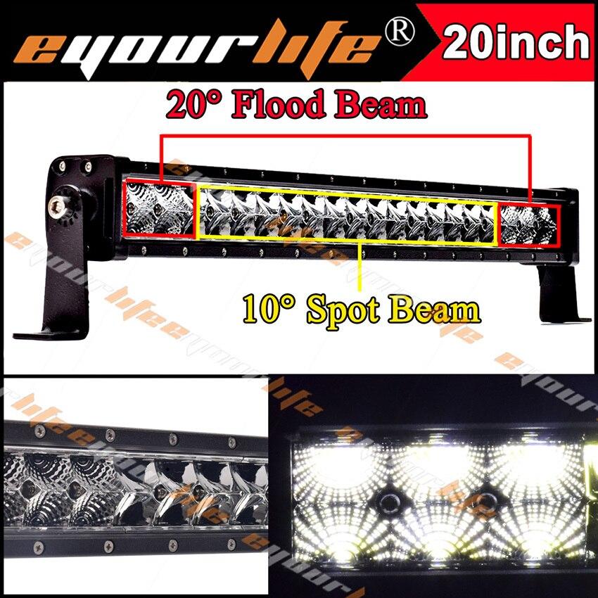 Eyourlife 20 22 inch 105w 12v led bar 24v offroad work font b light b font