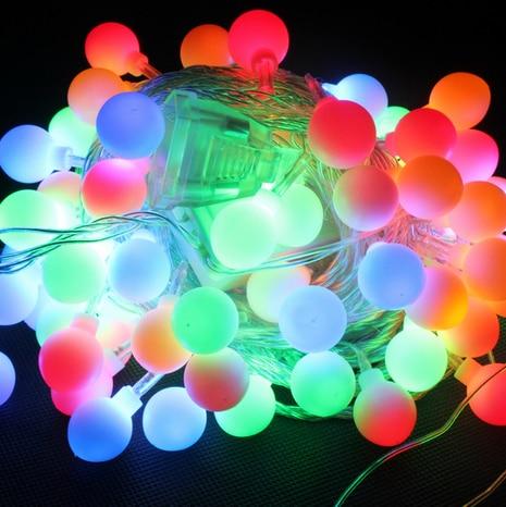 Led string of lights ball christmas lights mantianxing wedding lights 30 meters sphere ball lighting string