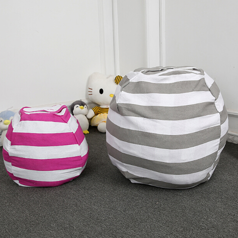 Stuffable Animal Toys Storage Bean Bag Stuffed Children Kids Plush Toy Organizer Large Capacity