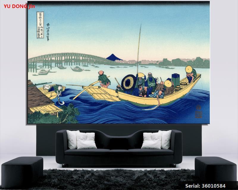 22 закат через ryogoku мост от банка Сумида река в onmagayashi натюрморт классической масла Painting36010584 ...