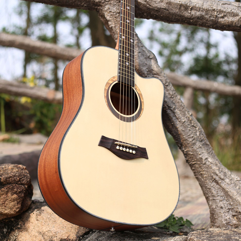 41 inch Guitar Acoustic Guitar Spruce Sapele Beginner Notch Wooden Guitar Excellent Musical Instruments AGT6041 inch Guitar Acoustic Guitar Spruce Sapele Beginner Notch Wooden Guitar Excellent Musical Instruments AGT60