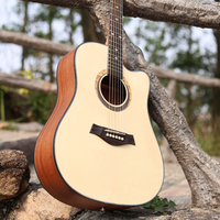 41 inch Guitar Acoustic Guitar Spruce Sapele Beginner Notch Wooden Guitar Excellent Musical Instruments AGT60