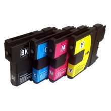 4PK Inkjet Cartridge for Brother LC11/16/38/61/65/67/980/1100 Color Comaptible Ink No.124