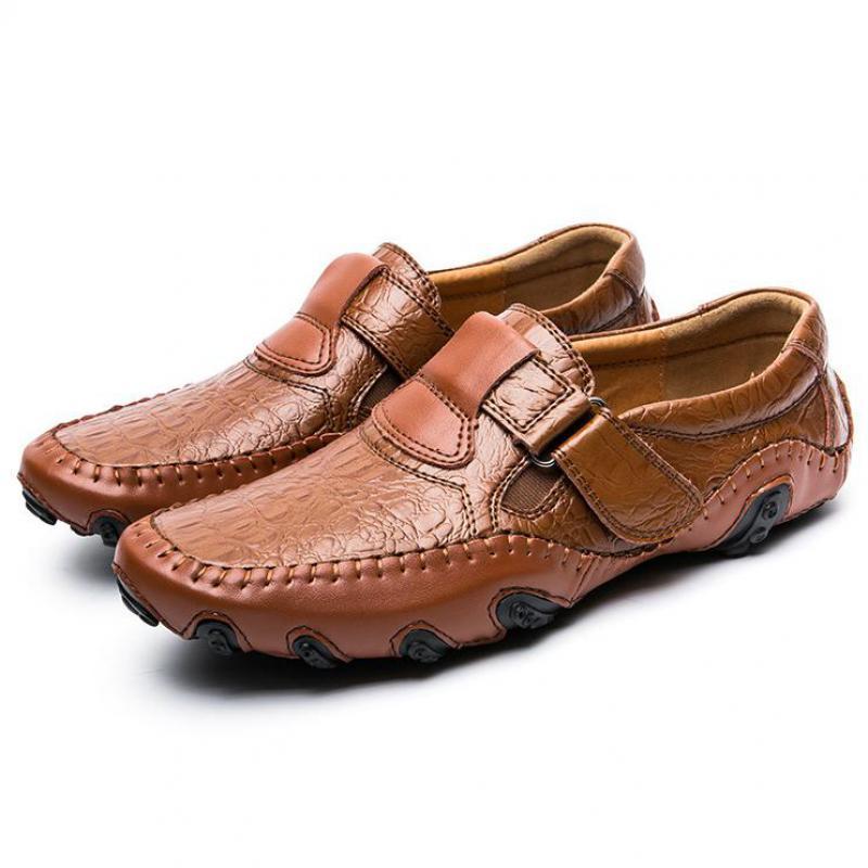 Conduite Noir Mocassins De Respirant Confortable Véritable À Crocodile La Luxe Hommes Homme Décontractée Main Chaussures orange Noir Cuir En Y0qtqwTf