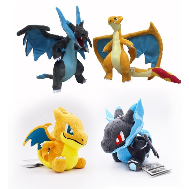 4 Styles Q Version Mega Charizard X&Y Mega Charizard Y Mega Evolution  Animal Stuffed Peluche Plush Quality Toys For Children