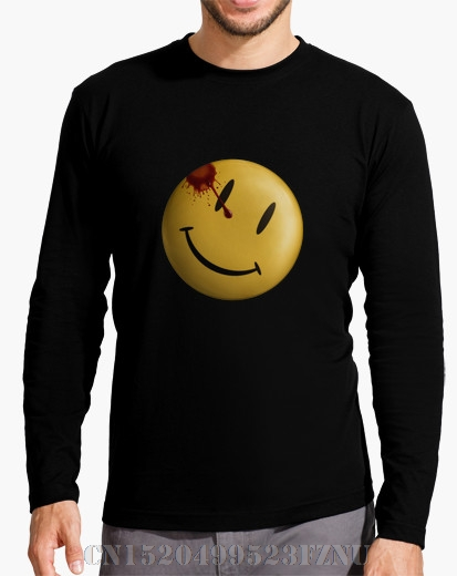 Autumn Black friday t-shirts Long Sleeve homme Watchmen Comedian Movie Character Long Sleeves Cotton hip hop mens High Quality