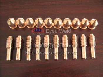40 pcs 100A Consumables (Nozzle 220011+ Electrode 220037) - for 1650 Plasma Cutting Machine, FREE SHIPPING[ PMX1650]