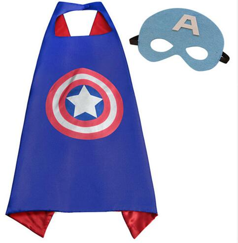 1 set of   Capes and Mask Set  Costume kids Superhero capes birthday party Style Cosplay Costumes and Halloween Gift