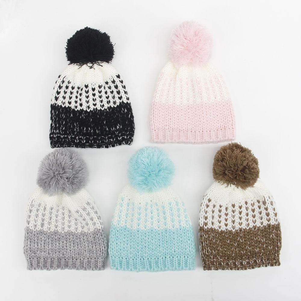 Crochet hats with Pom pom, Winter Warm Knit hat