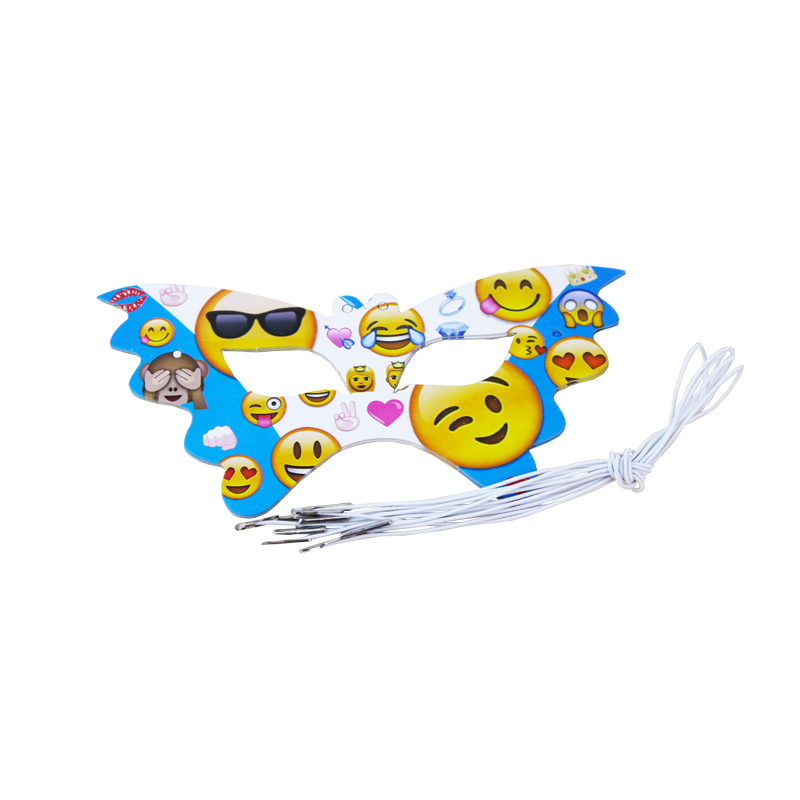 Birthday Party Decorations Kids Boy Girl Baby Birthday Party Decoration Supplies Favors Facial Expression Mask 6pcs/lot