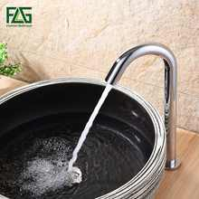 FLG Contemporary Basin Faucet Chrome Faucet Ceramic Plate Spool Water Saving Battery Power Automatic Infrared Sensor Buque 8008