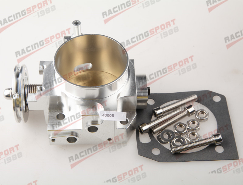 70MM RSX DC5 SI EP3 K20 K20A BILLET THROTTLE BODY CNC T6 Aluminum Silver