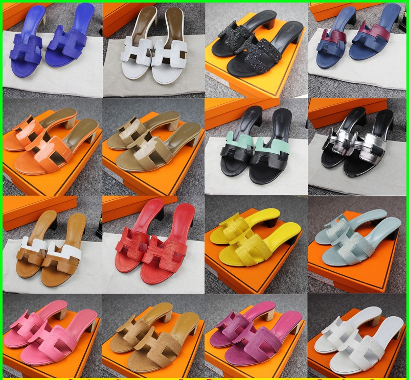 ФОТО Sandals in the Summer of 2017 High-heeled Slippers Female Fashion Thick with Cool Slippers, Leather Slippers Word Woman