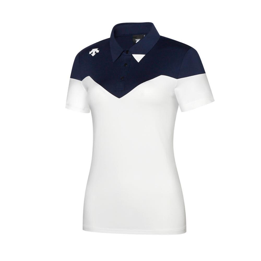QWomen DESCENTE golf T-shirt nouveau été à manches courtes T shirt 2 couleurs Golf vêtements Sportswear S-XXL marque Golf slim Jersey