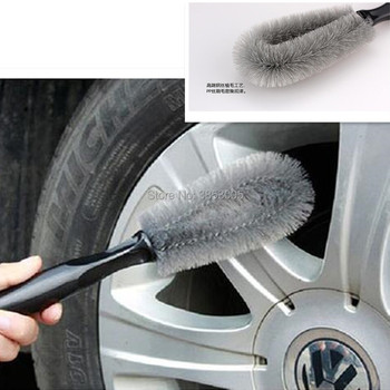 1PCS Car Wheel Tire Rim Washing Cleaning Brush for scenic 2 ford focus 1 audi a4 toyota camry juke taillight mazda bmw x5 e53 image