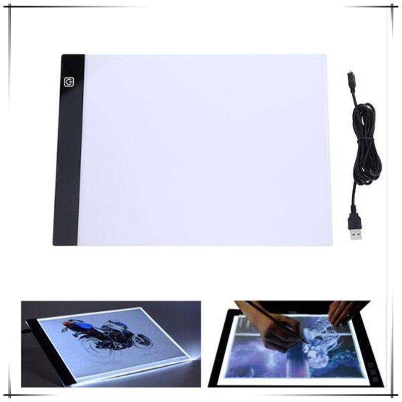 Bueno A4 Led Artista Fino Arte Molde Tablero De Dibujo, Luz De Seguimiento De Estera De Tabla Tableta Digital De Tablero De Dibujo De Herramientas De Pintura Suministro Suficiente