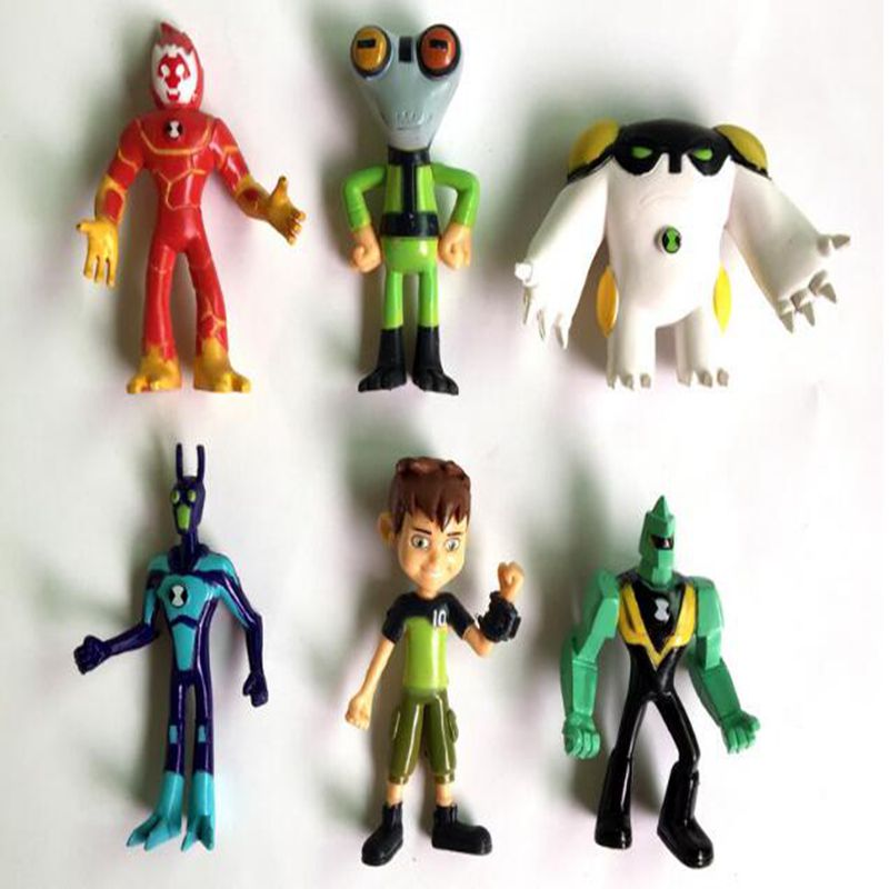 6pcs/Set  Ben 10 PVC Figure Set Toy Ben10 Action Toy Figures Gift For Children Birthday Present lps lps toy bag 20pcs pet shop animals cats kids children action figures pvc lps toy birthday gift 4 5cm