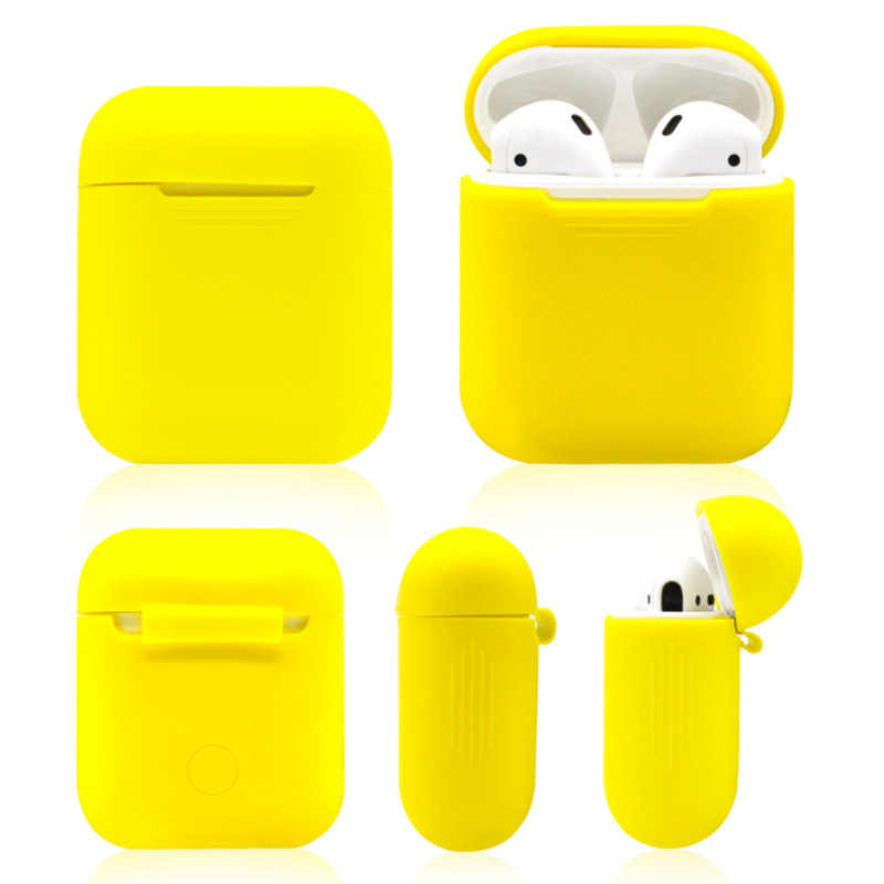 Shockproof Silicone Skin Case for Airpods for IPhone Waterproof/Lost/dust Wireless Bluetooth Earphone Accessory Multicolor