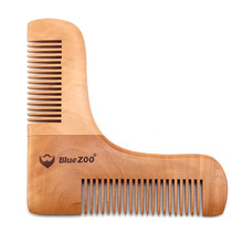 Double Gentlemen Beard Comb Wooden Shaping Template Beard Shaping Comb for Men